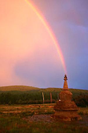 Stupa Rainbow